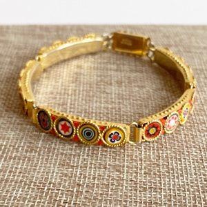Vintage Italian Mosaic Millefiori Bracelet
